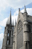 Gothic church. Medieval style gothic church in brussels, belgium Royalty Free Stock Image