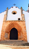 Gothic church. Frontal view of a gothic style church located on Silves, Portugal Stock Photos