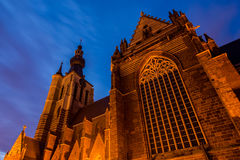 Gothic church in Aarschot, Belgium Royalty Free Stock Photography