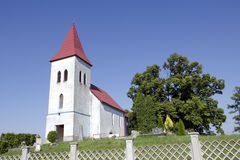 The gothic church in Abramova, Slovakia Stock Images