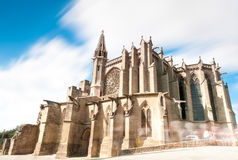 Gothic church in ancient city of Carcassonne. Stock Photo
