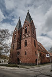 Gothic church with belfries Royalty Free Stock Photo