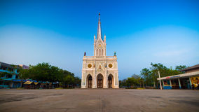 Gothic church in blue sky background, Thailand Stock Images