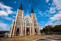 Gothic church and blue sky Royalty Free Stock Image
