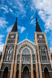 Gothic church and blue sky Royalty Free Stock Photos