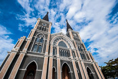 Gothic church and blue sky Royalty Free Stock Photography