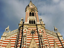 Gothic church in Bogota, Colombia. Royalty Free Stock Photos