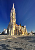 Gothic Church in the Budapest Royalty Free Stock Photo