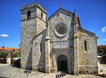 Gothic church in Caminha Stock Photos