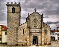 Gothic church of Caminha Royalty Free Stock Photo
