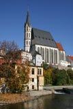 Gothic church in Cesky Krumlov Royalty Free Stock Image