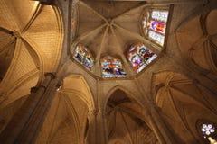 Gothic church chancel. Chancel of  beautiful gothic church , notre dame d'Uzeste, france Stock Image
