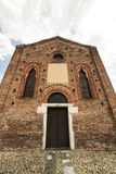Gothic church in Cislago (Lombardy, Italy). Little gothic church of Annunziata in Cislago (Varese, Lombardy, Italy), facade royalty free stock photo