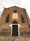 Gothic church in Cislago Lombardy, Italy. Little gothic church of Annunziata in Cislago Varese, Lombardy, Italy, facade stock photos