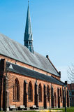 Gothic church, Denmark, Horsens. Close-up picture of a gothic church situated in Denmark, Horsens Royalty Free Stock Photo
