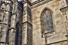 Gothic church detail. Stock Photos