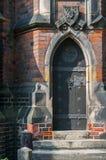 Gothic church door Royalty Free Stock Image