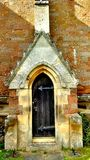 Gothic church door Royalty Free Stock Image