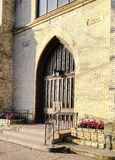 Gothic church doorway Royalty Free Stock Photography