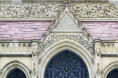 Gothic church entrance details Stock Photos