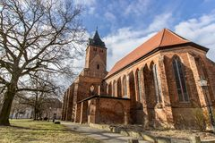 Gothic church in Gardelegen. Partly destroyed Gothic church in Gardelegen in Germany Royalty Free Stock Images