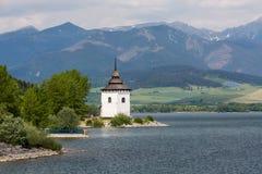Gothic church Havranok at Lake Liptovska Mara, Slovakia Royalty Free Stock Photography