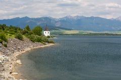 Gothic church Havranok at Lake Liptovska Mara, Slovakia Stock Photo