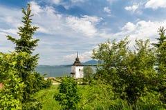 Gothic church Havranok at Lake Liptovska Mara, Slovakia Royalty Free Stock Image