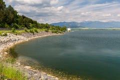 Gothic church Havranok at Lake Liptovska Mara, Slovakia Royalty Free Stock Photo