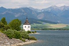 Gothic church Havranok at Lake Liptovska Mara, Slovakia Stock Image