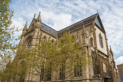 Gothic church in the historic part of Rennes Royalty Free Stock Photography