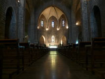 Gothic church interior figueres spain Stock Images