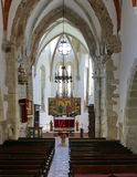 Gothic church interior royalty free stock images