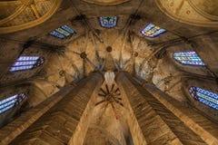 Gothic church interior Stock Photos
