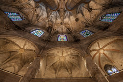 Gothic church interior stock images