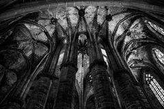 Gothic church interior Royalty Free Stock Photography