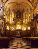 Gothic church interior in Spain. Stock Images
