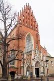 Gothic church in Krakow city center, Poland Stock Images