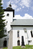 The gothic church in Kremnicke Bane, Slovakia Royalty Free Stock Photo