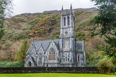 Gothic church in the Kylemore abbey Royalty Free Stock Photography