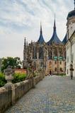 Gothic church landmark, Saint Barbara cathedral - Sv. Svata Barbora in city of Kutna Hora Stock Photography