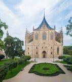 Gothic church landmark, Saint Barbara cathedral - Sv. Svata Barbora in city of Kutna Hora Stock Image