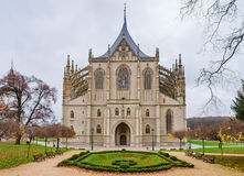Gothic church landmark, St. Barbara cathedral Royalty Free Stock Photo
