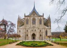 Gothic church landmark, St. Barbara cathedral Royalty Free Stock Photo