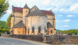 Gothic church located in Aquitaine Royalty Free Stock Photography