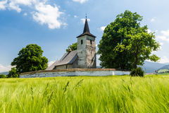 Gothic church in Ludrova village near Ruzomberok in Slovakia Royalty Free Stock Images