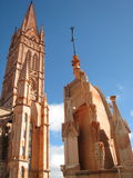 Gothic church. In Mexico. Virgin of Fatima royalty free stock photography