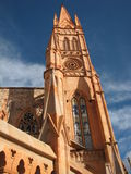 Gothic church. In Mexico. Virgin of Fatima royalty free stock photos
