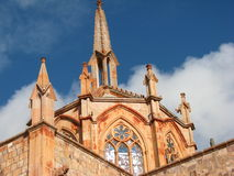 Gothic church. In Mexico. Virgin of Fatima royalty free stock images
