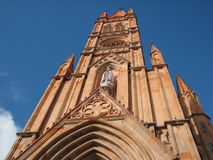 Gothic church. In Mexico. Virgin of Fatima stock photography